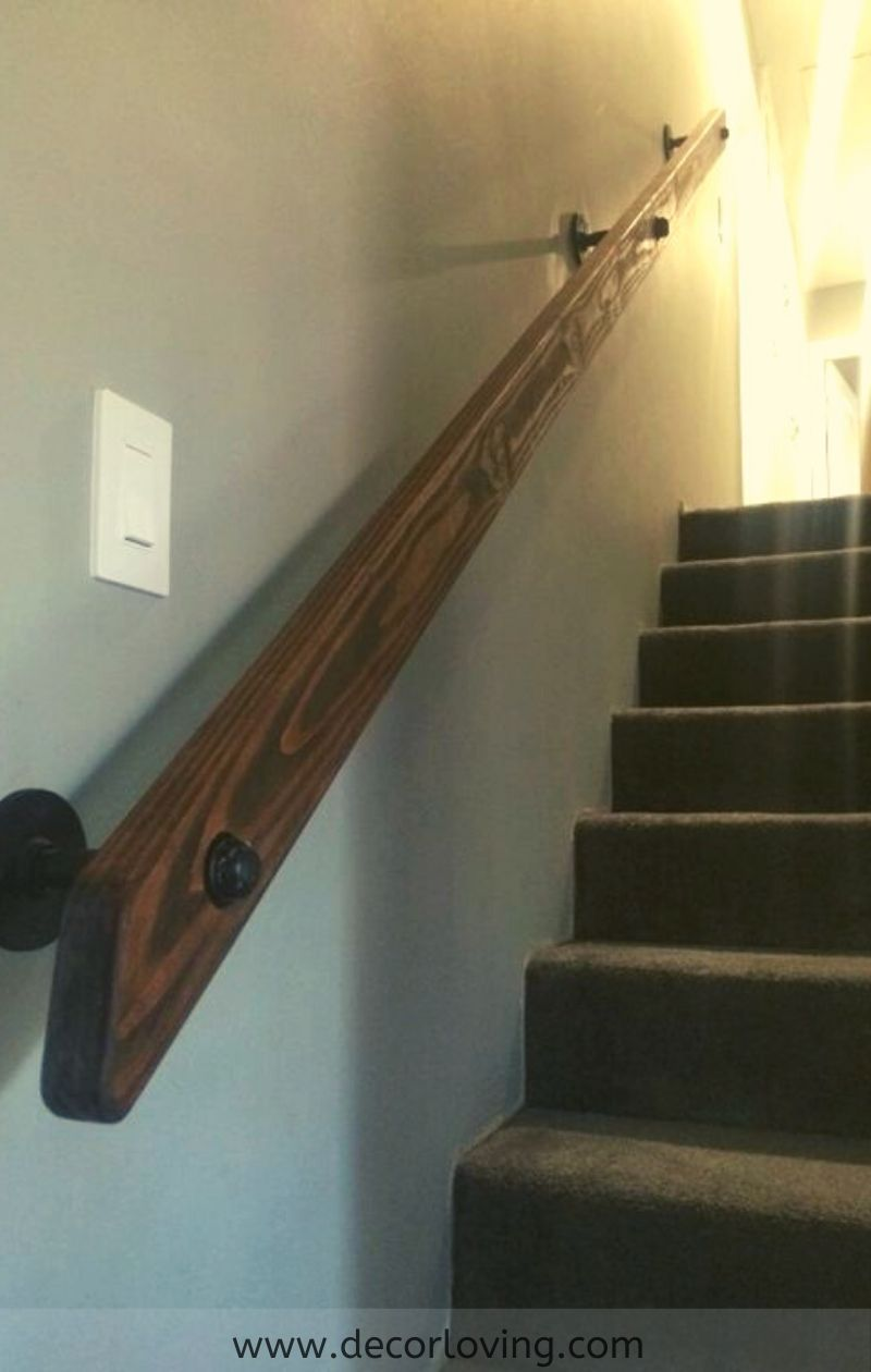 Best Rustic Staircase Handrail Ideas To Complete our Stair Interiors