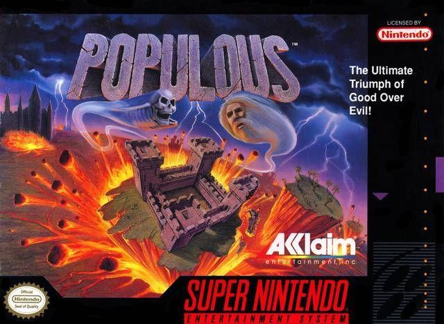 Populous Snes Com Imagens Master System Video Game Cores