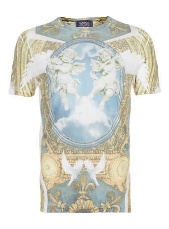 110a09508f5 White Cherub Print T-Shirt