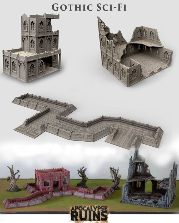 photograph relating to Printable Scenery known as APOCALYPSE RUINS - Modular gaming ruins for Wargames and RPG