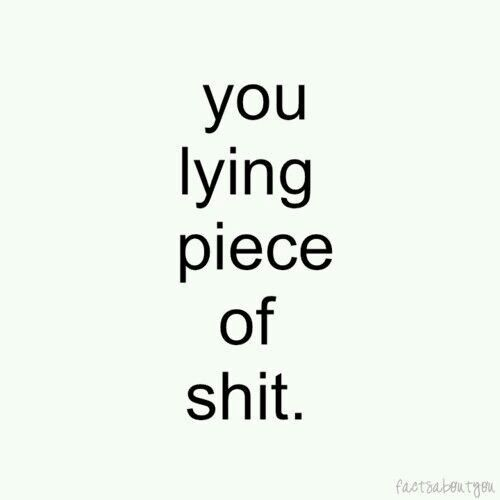 Lying piece of shit I hate you | MMMHHHMMM | Boyfriend quotes, Lying
