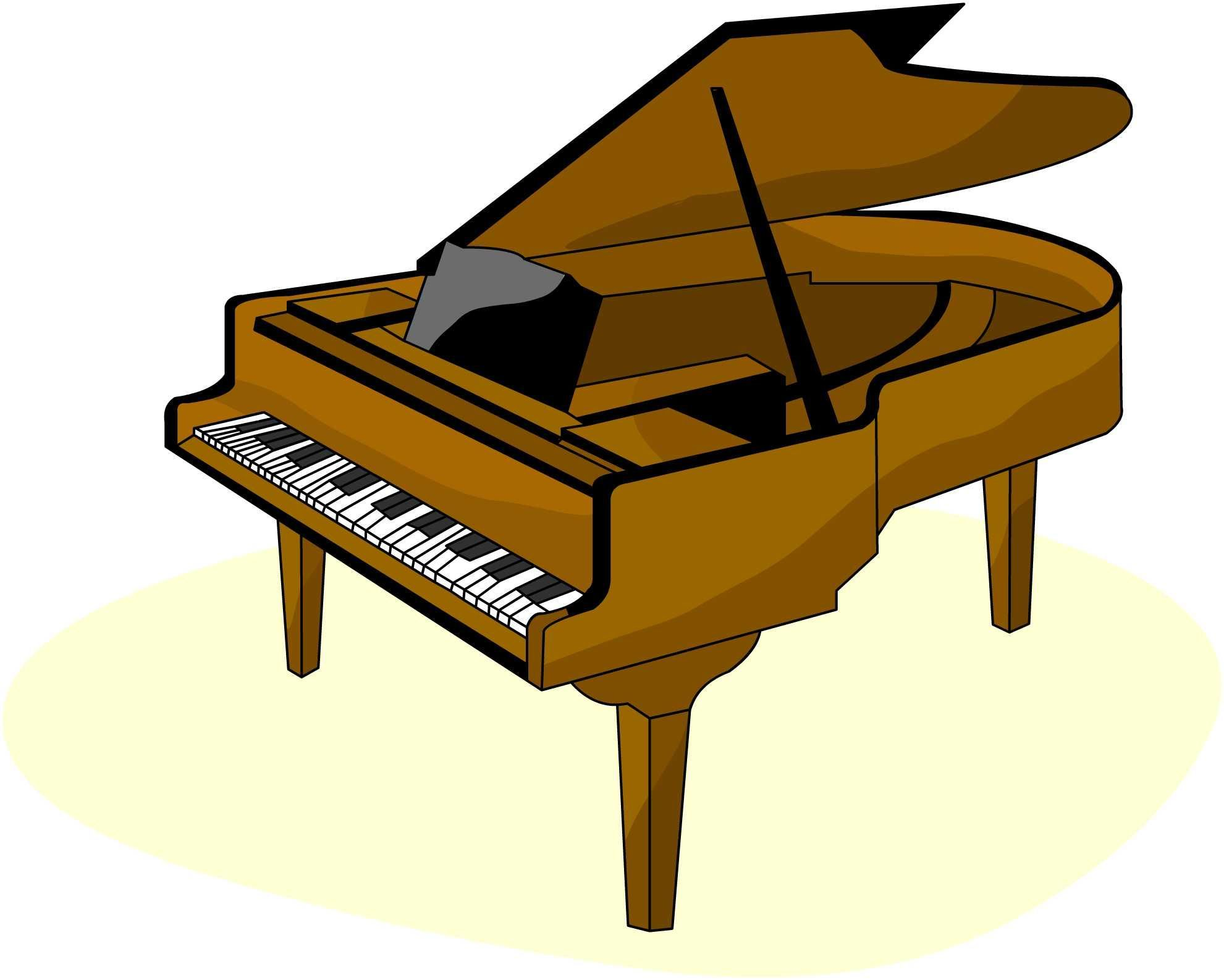 Piano brown. Clip art music clipart