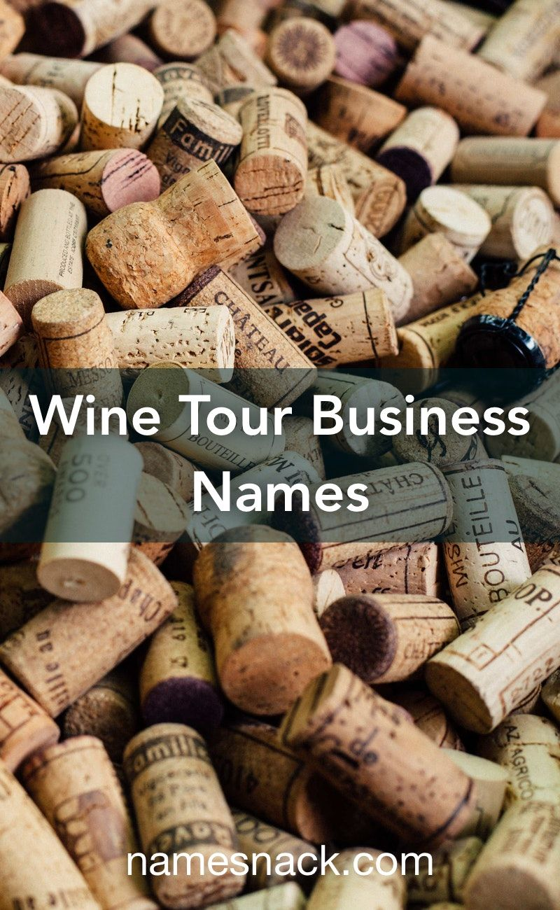 Wine Tour Business Names Wine Tour Wine Food Pairing Business Names