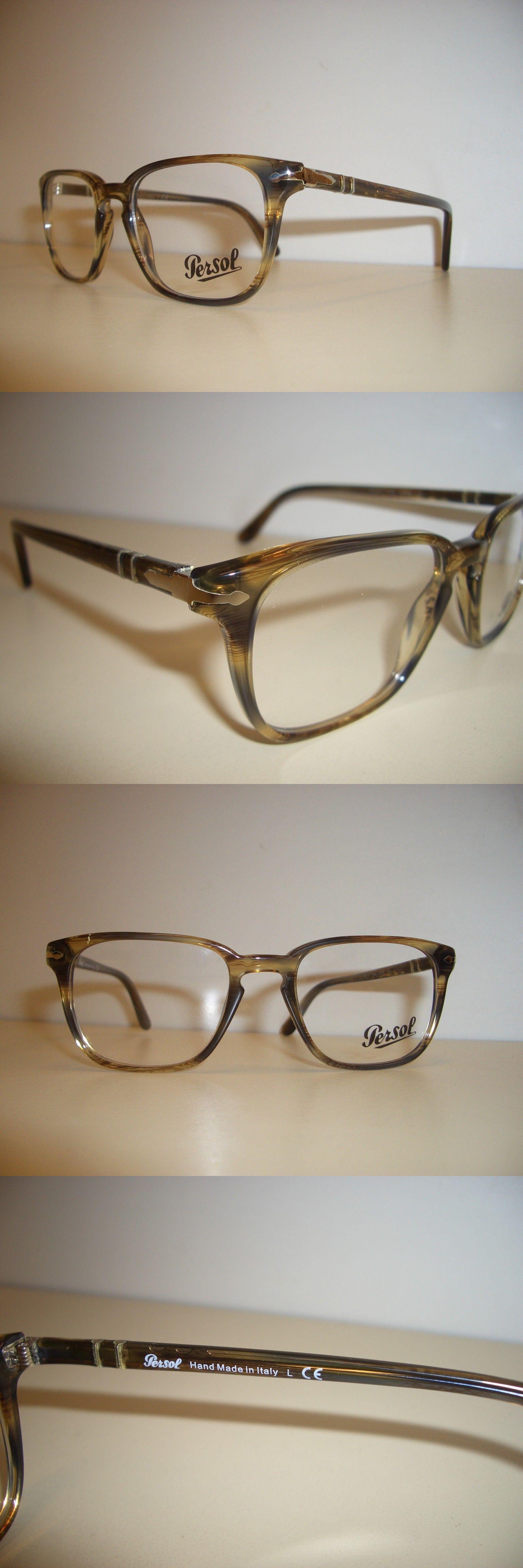25ca7b2488f Eyeglass Frames 180957  Persol Frame Model Po-3117V Color 1049 Brown Stripd  Size 5119