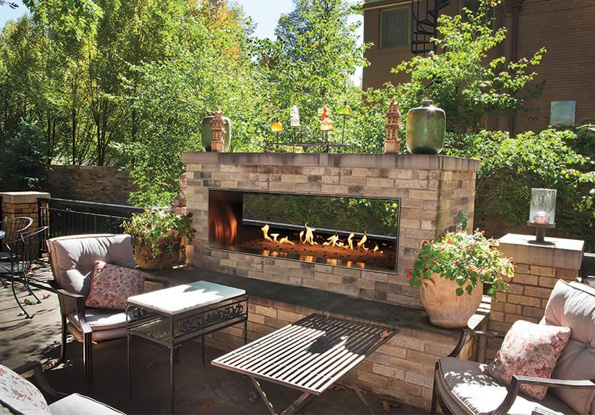 Empire Outdoor Linear See Through Fireplace Fine S Gas Outdoor Gas Fireplace Backyard Fireplace Outdoor Pergola