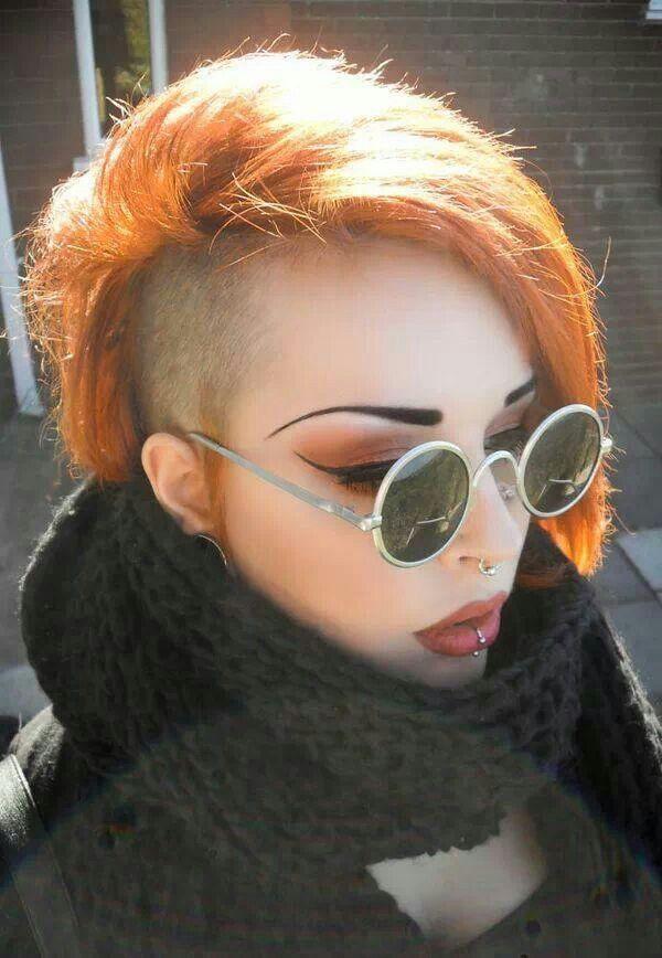 Side-shaved bob