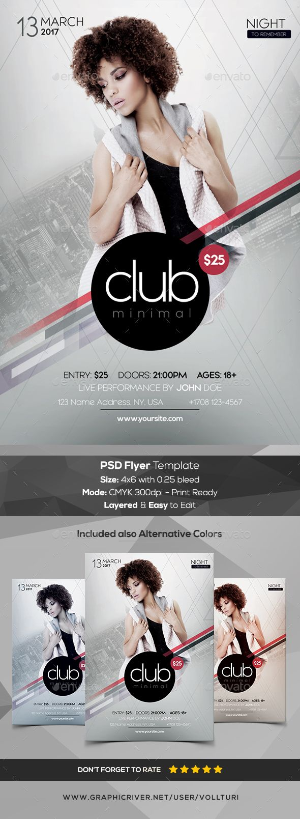 Club Minimal  Psd Flyer Template  Psd Flyer Templates Flyer