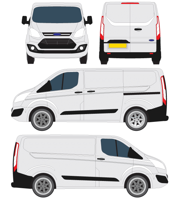 Ford Transit Courier Vector Outline Connetable Illustrations Et