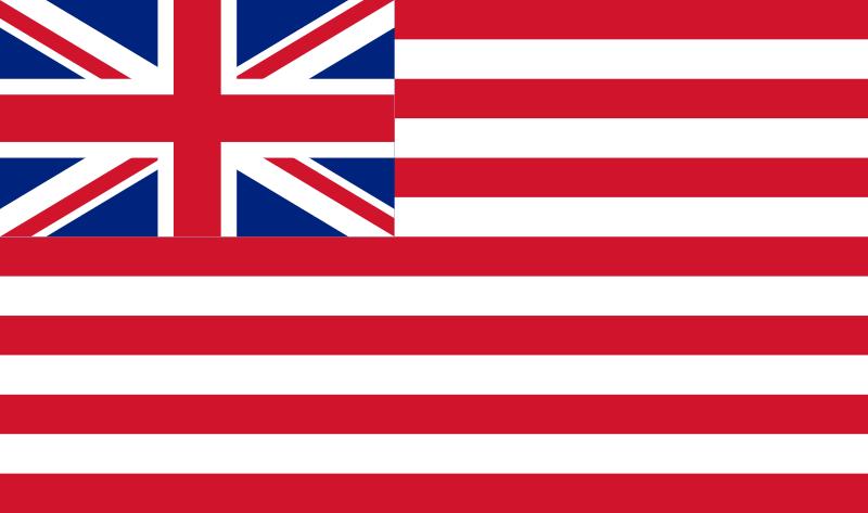 Flag Of The British East India Company 1801 Le Premier Avant