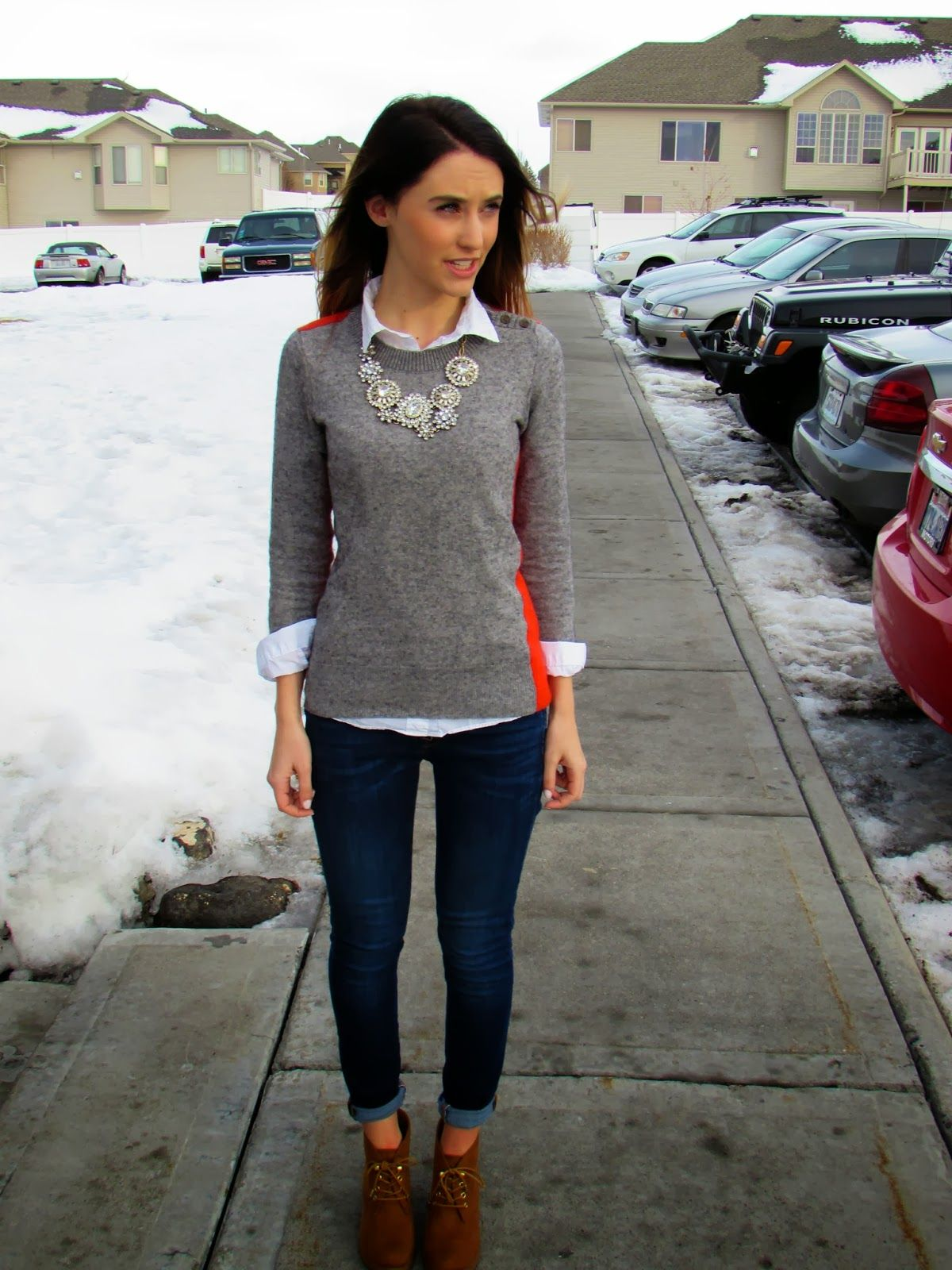 fallwinter outfit  fashion  pinterest  grey sweater