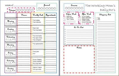 free printable daily planner sheets