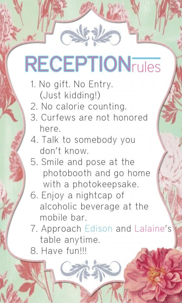 Reception Rules For Edison And Lalaine