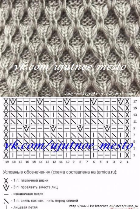 Pin de Неонила en Схемы вязание   Pinterest   Puntos, Tejido y Puntadas