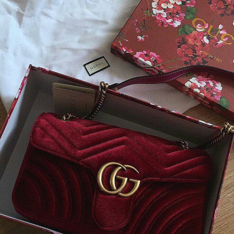 5ff08ae0d90f Gucci Marmont red velvet bag #Gucci #Marmont | Bags in 2019 | Bags ...