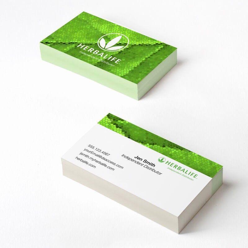 Herbalife Business Card Template Beautiful Herbalife Green Mosaic Business Card Dsaccess H In 2020 Herbalife Business Cards Herbalife Business Card Templates Herbalife
