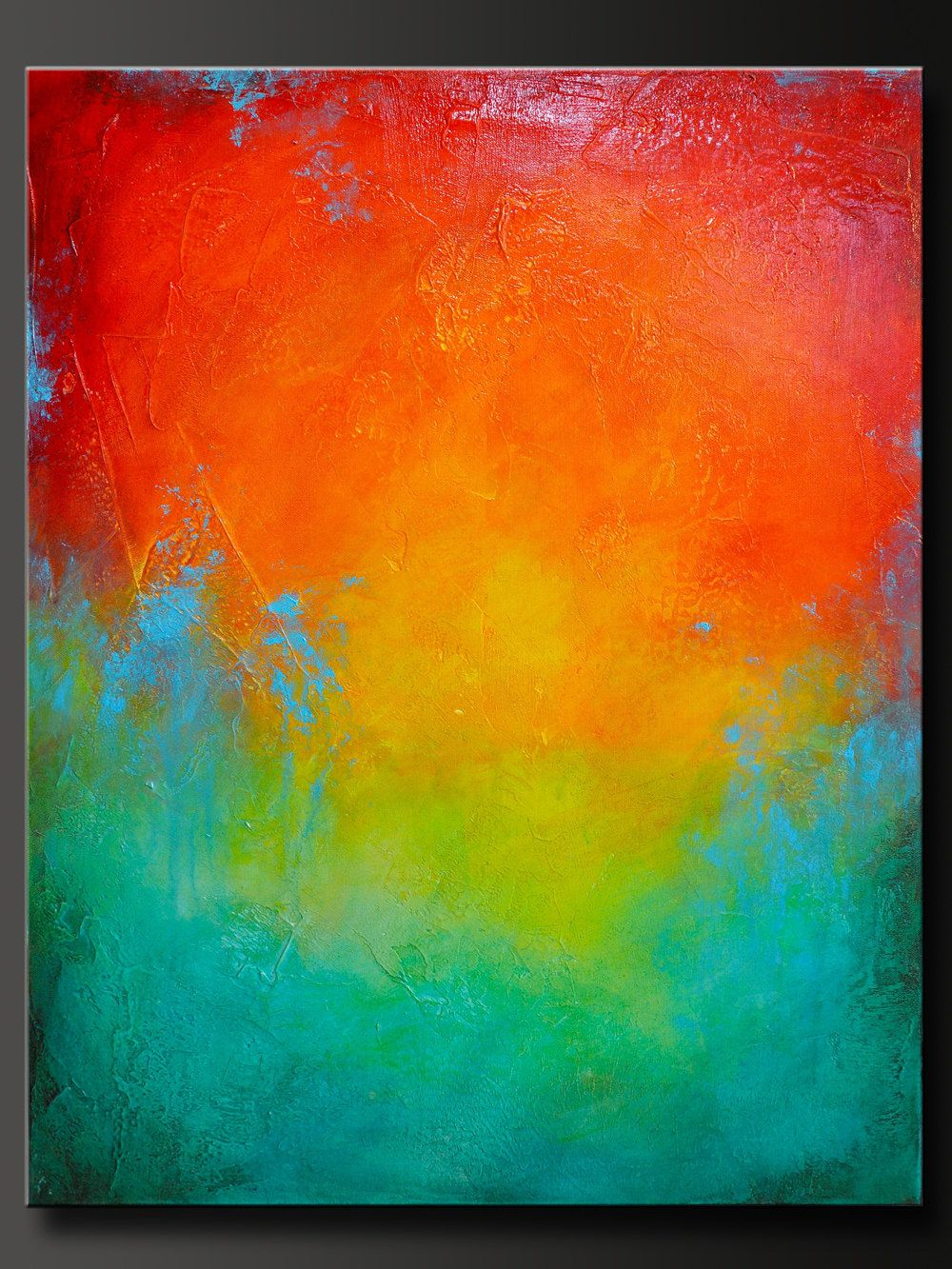 28 x 22 Abstract Acrylic Painting Contemporary Wall
