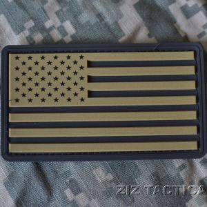 Pvc Usa Flag Khaki And Black American Flag Patch Flag Patches Tactical Patches