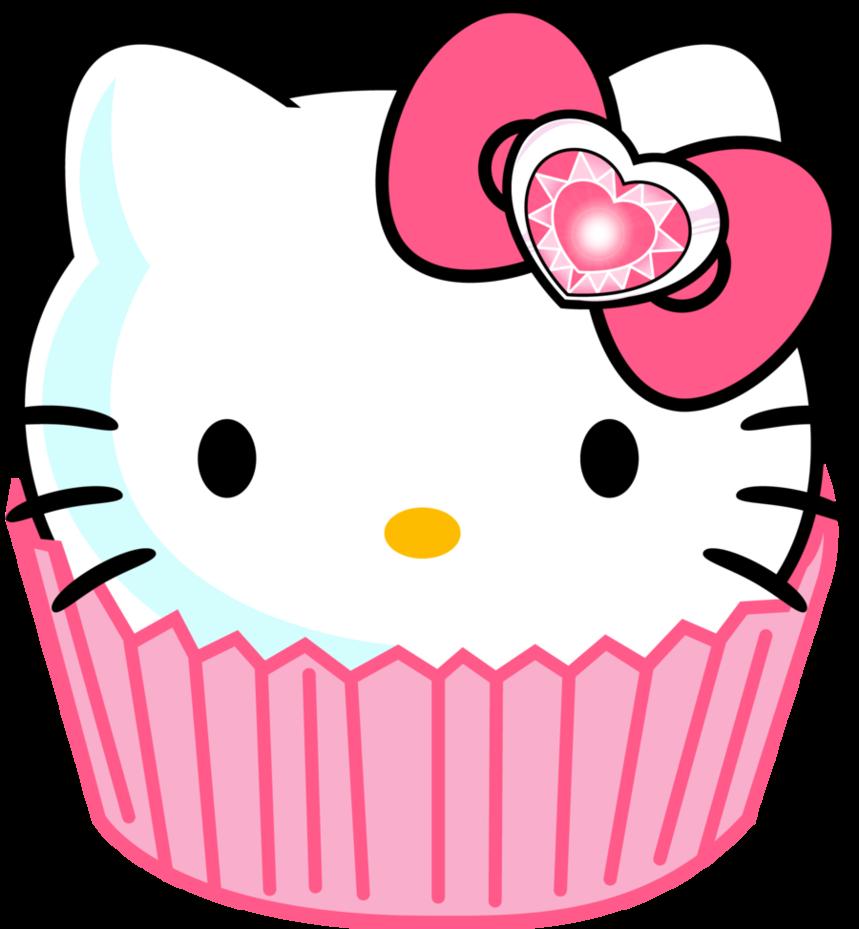 hello kitty border clip art hello kitty cupcake sarry eyed style rh pinterest com hello kitty clipart birthday hello kitty clip art images