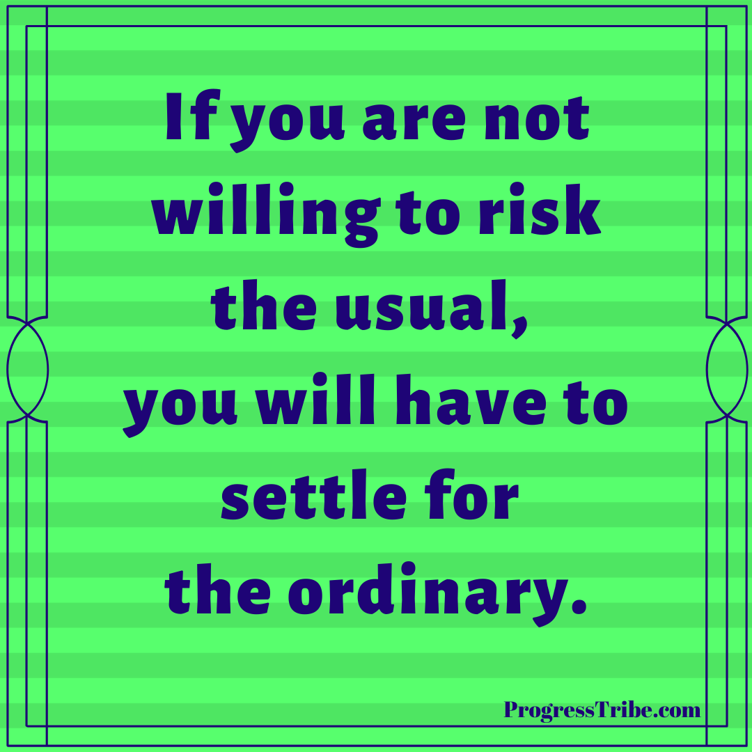 High risk equals high reward Follow us today and get your daily motivation