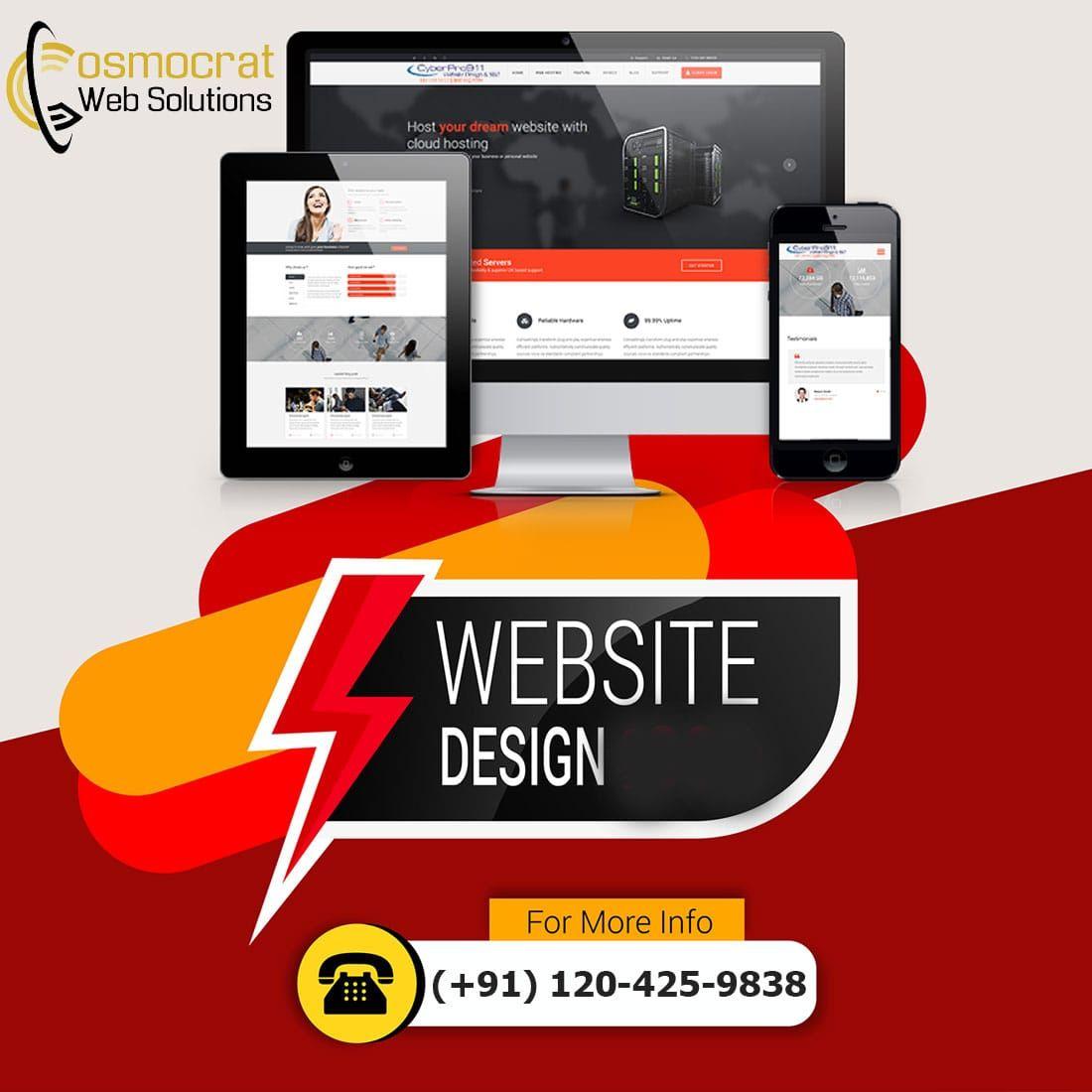 Web Design Company In Australia Cosmocratwebsolutions Com In 2020 Website Design Services Web Design Company Website Design Company