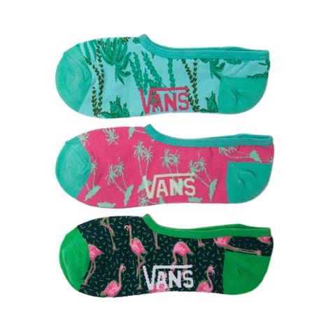 Shop for Womens Vans Miami Flamingo Liners 3 Pack in  at Journeys Shoes. Shop today for the hottest brands in mens shoes and womens shoes at Journeys.com.Available only at Journeys and SHI, these tropical print no-show liners from Vans feature a fun assortment of Miami palm trees and flamingos. 3 pack. Available exclusively at Journeys and SHI!