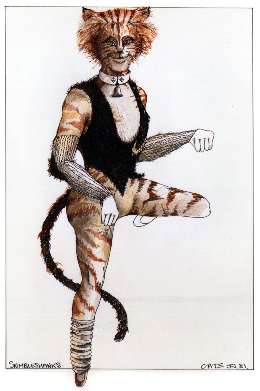 Skimbleshanks original costume design, John Napier 1981
