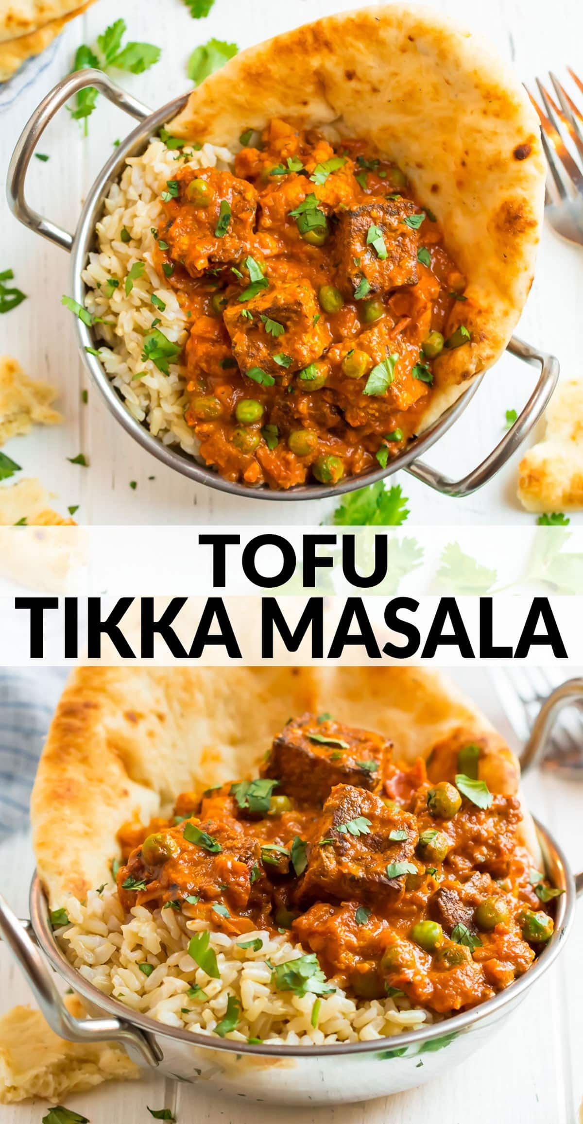 This Healthy Tofu Tikka Masala Features Tandoori Style Tofu In A