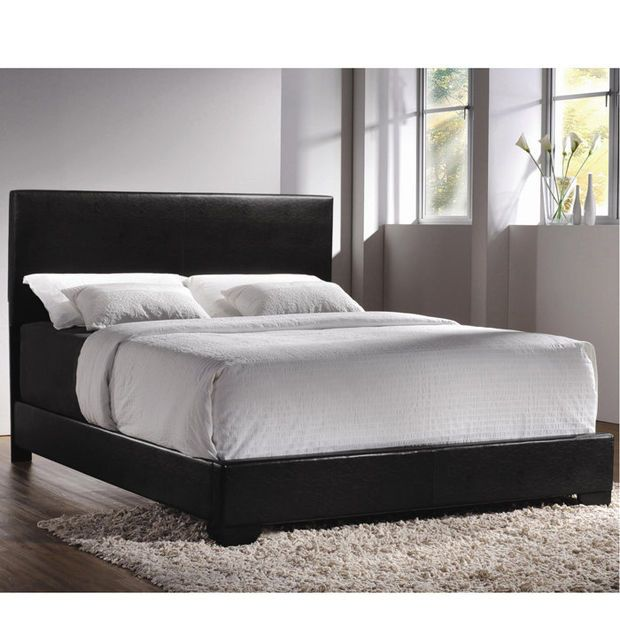 Contemporary Upholstered Low Profile Bed Frame Queen Upholstered