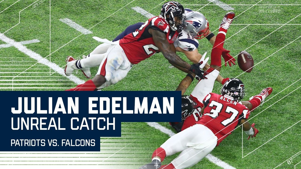Julian Edelman Makes Ridiculous Catch Patriots Vs Falcons Super Bowl Li Highlights Youtube Julian Edelman Patriots Super Bowl Li
