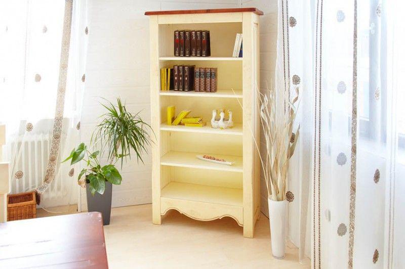 Bücherregal Bogota massiv Pinie gebeizt  lackiert Wohnzimmer - Schrank Für Wohnzimmer