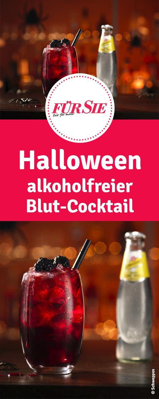 Blutroter Halloween-Cocktail Beetween #nonalcoholicbeverages