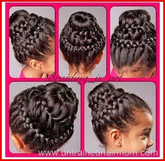 Braid bun hairstyle step by step #braidedbuns