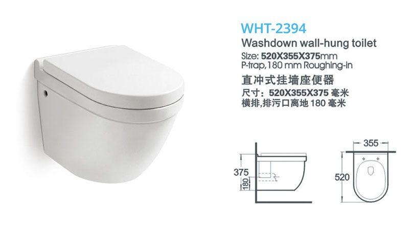 Sanitary Ware Wall Mounted Toilet Wall Hung Toilet Back To Wall
