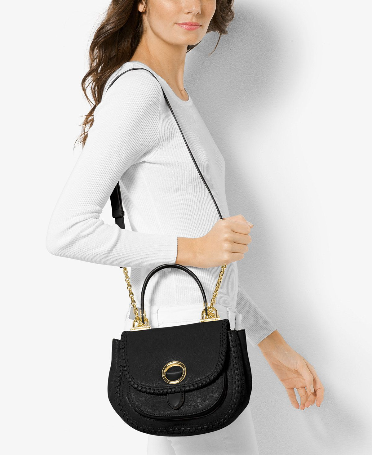 9d384c97dfa5 MICHAEL Michael Kors Isadore Medium Top Handle Messenger - Handbags &  Accessories - Macy's