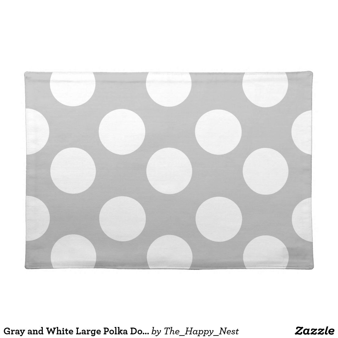 Best Gray And White Large Polka Dot Placemat Zazzle Com 640 x 480