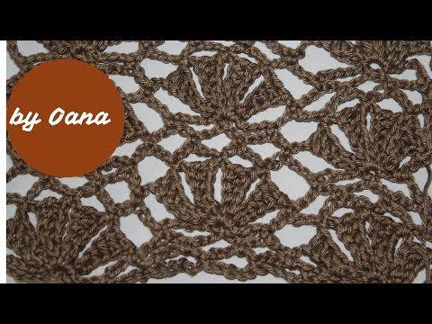 Crochet giant fan stitch by Oana - YouTube