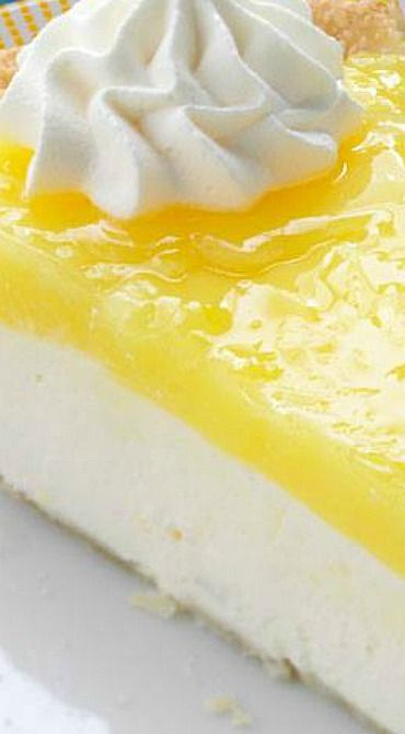 Lemon Supreme Pie ~ The combination of the cream cheese and tart lemon is wonderful.