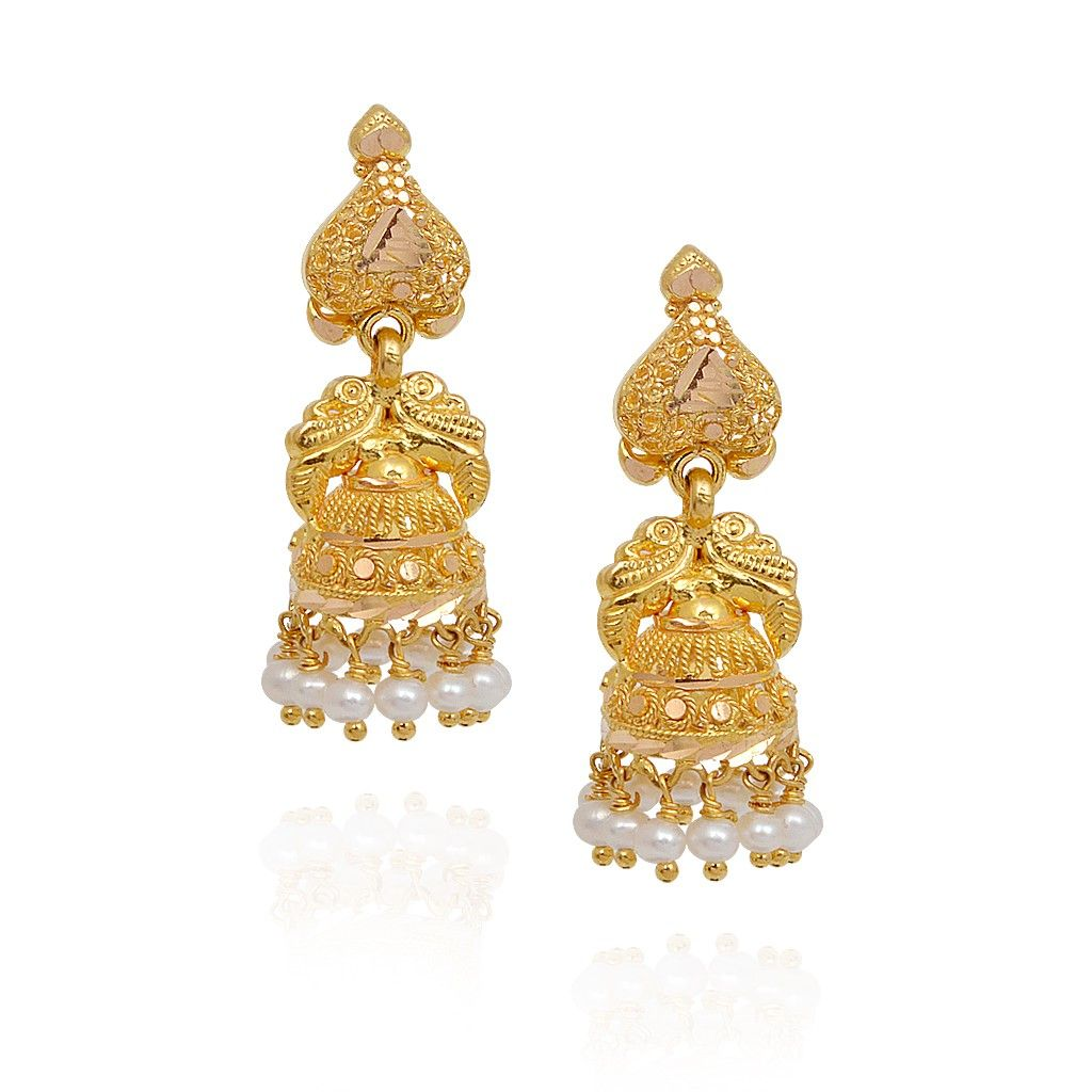 Fancy Pearl Beads With Annapakshi Gold Jimmiki | My Collections ...