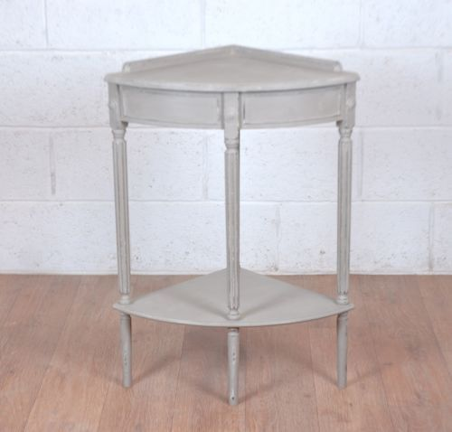 Shabby Chic Corner Side Hall Table French Grey Country Style