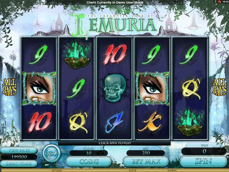The Forgotten Land Of Lemuria Slots With No Download