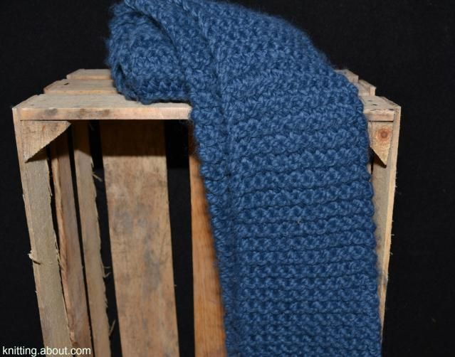 The Garter Stitch Is A Perfect First Scarf Pattern For Beginners