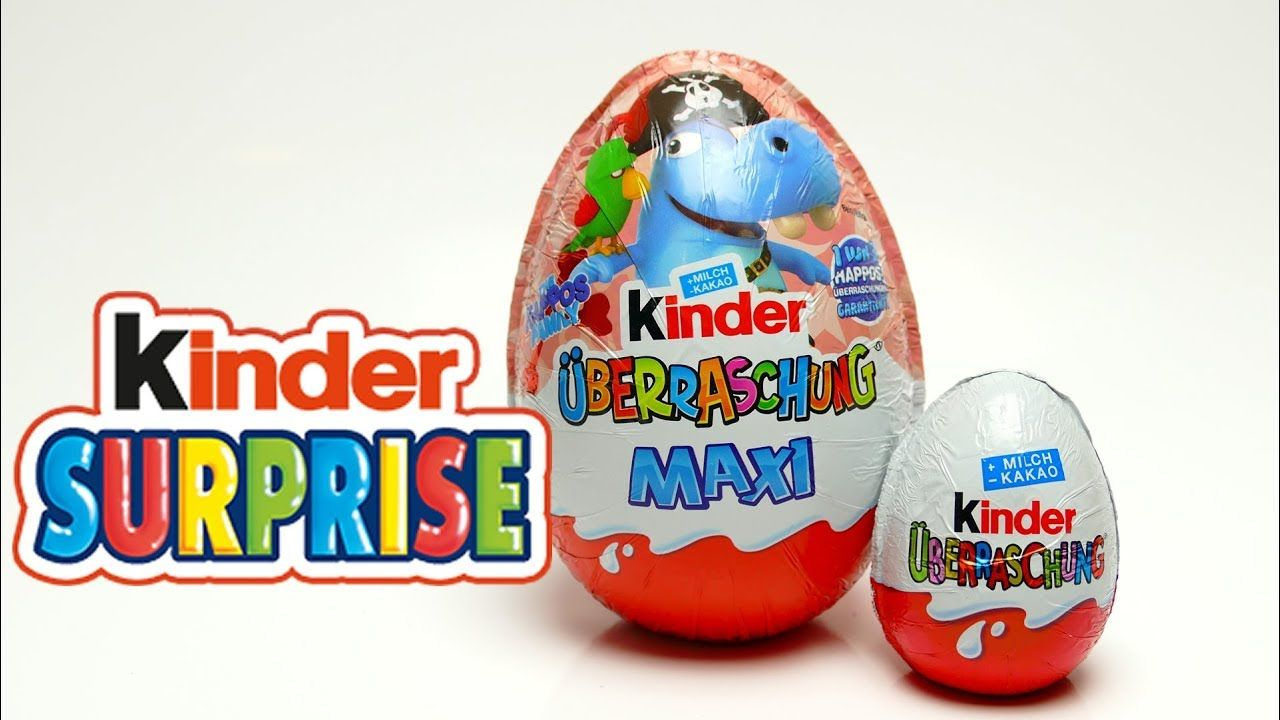 Kinder Maxi Big Pack Kinder Maxi Surprise Big Egg With Hippo Surprise Toys And