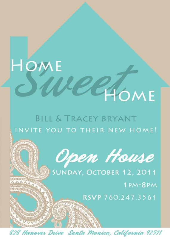 Paisley home sweet housewarming or open house invitation by modmarie parties also best images on pinterest party rh