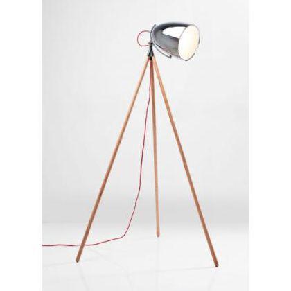 34903 lampada da terra tripod cromo legno kare design outlet ...