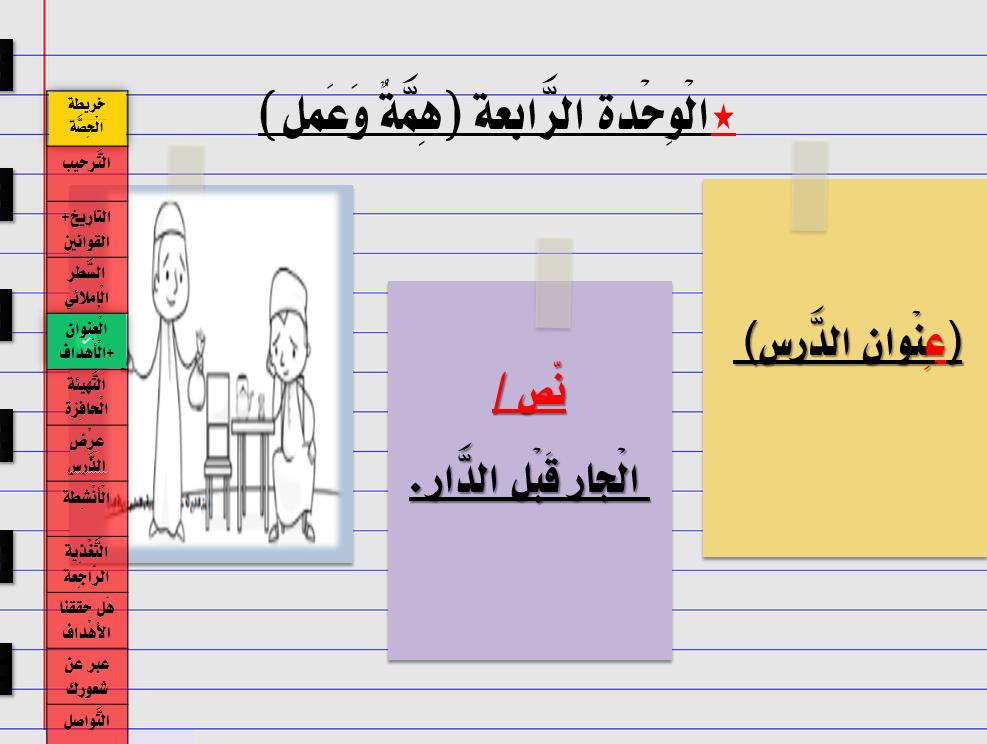 درس الجار قبل الدار الصف الثاني مادة اللغة العربية بوربوينت Bar Chart Chart