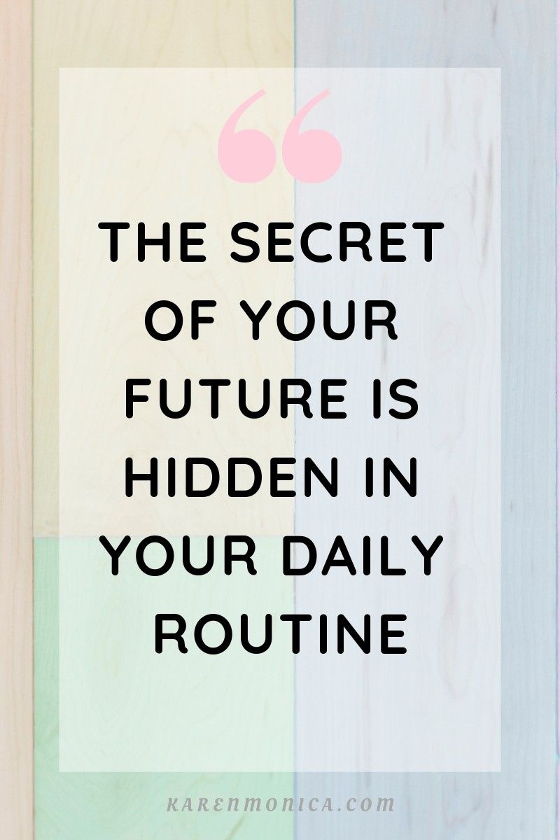 Morning Routine For A Productive Day Routine quotes
