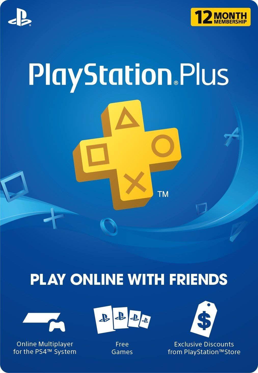 Playstation Plus 12-Month 1 Year $45 [Digital Code] Amazon BestBuy