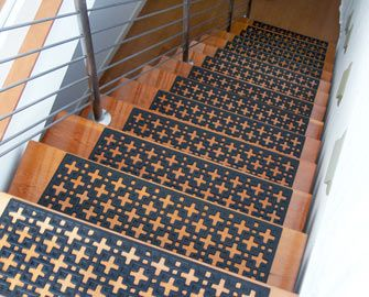 Quot Stars Quot Rubber Stair Treads 6 Pack Home Decor Design