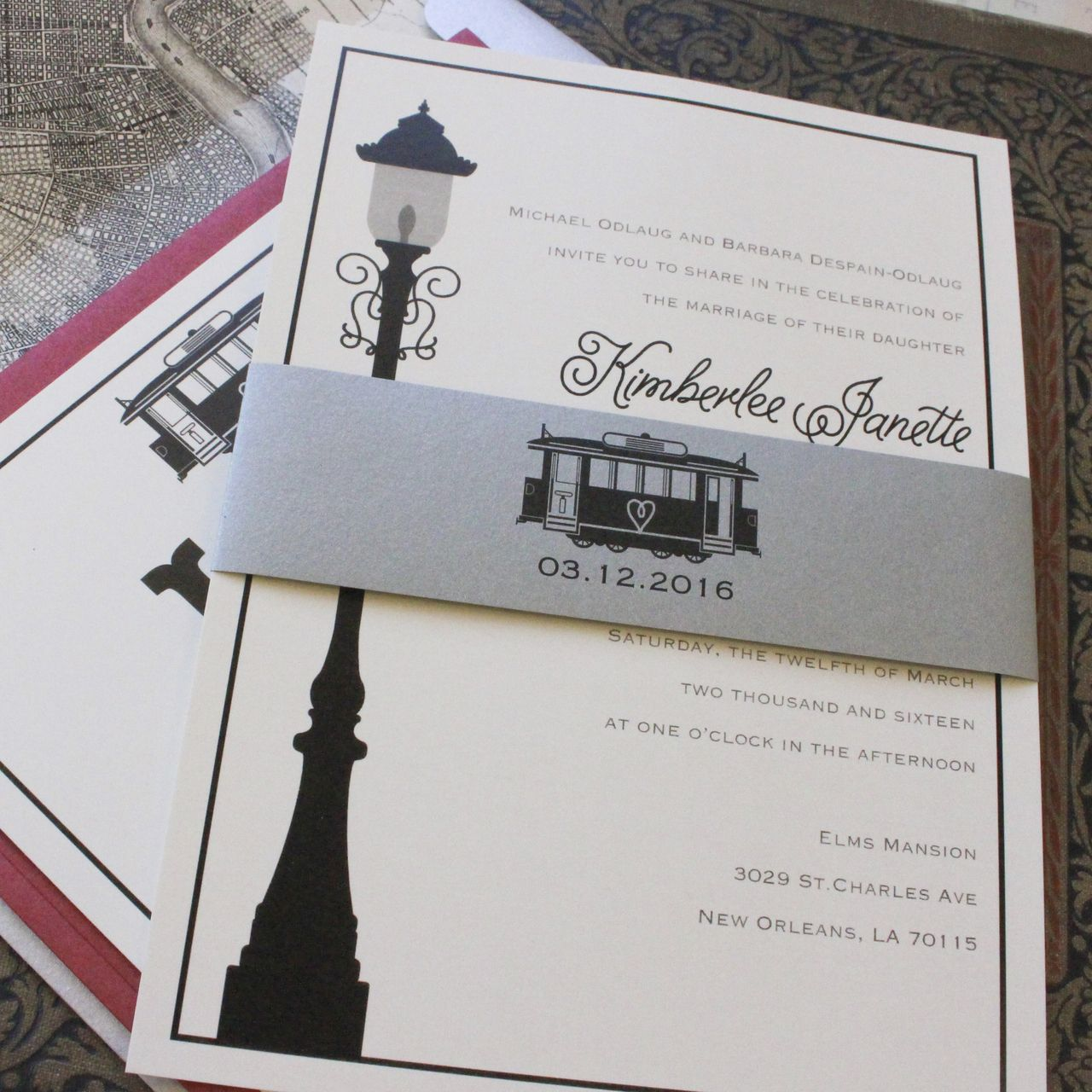 Modern Streetcar Wedding Invitation - New Orleans   I do   Pinterest ...