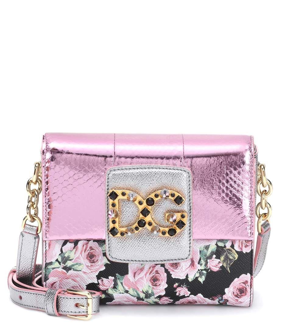 DG Millennials Mini pink leather shoulder bag  bbac2dde00743